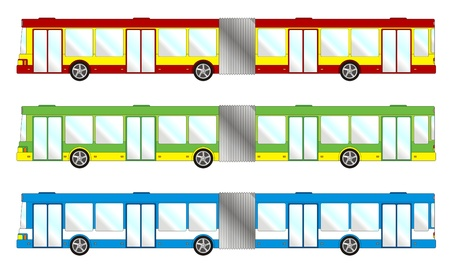 convoy: Veicolo pacco - Bus lungo Vettoriali