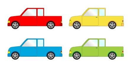 convoy: Confezione di veicolo - pick-up Vettoriali