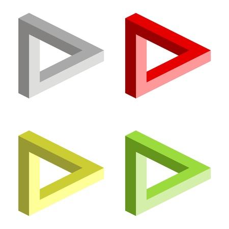 perceive: Illusione ottica illustrazione vettoriale su sfondo bianco Vettoriali