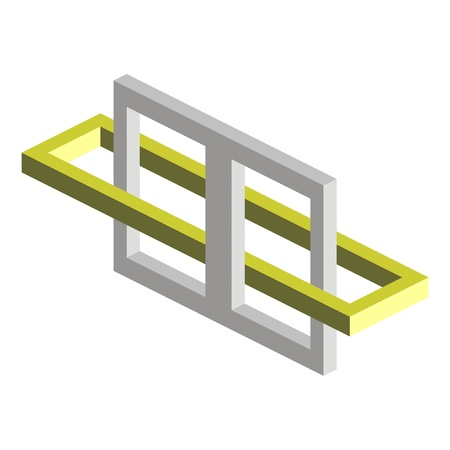 Optical illusion vector illustration on white background