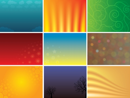 Abstract multicolored www and presentation vector backgrounds pack Stock Photo