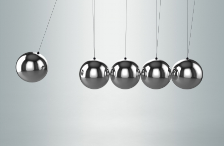 Newton's cradle balancing balls Stock Photo - 10770993