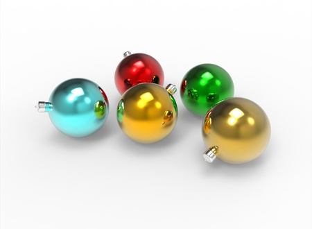 familia cristiana: Bolas de navidad de colores espejo pack