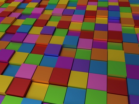 Abstract background - different color cubes photo