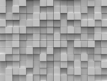 Abstract background - different white cubes photo