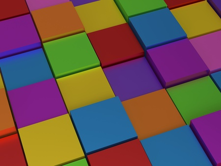 Abstract background - different rainbow color cubes photo