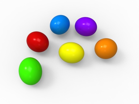 Easter eggs, color pack collection, solid colors