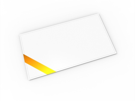 Blank greeting card  for greeting or congratulation  with yellow ribbon photo