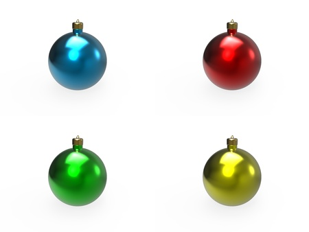 Christmas colorful baubles pack Stock Photo - 16796291