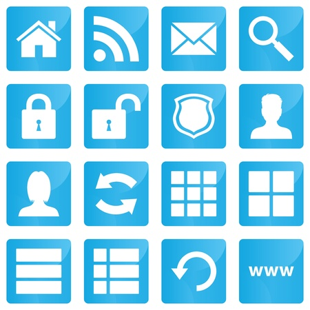 home security: Business, e-commerce, web and shopping icons set in modern style