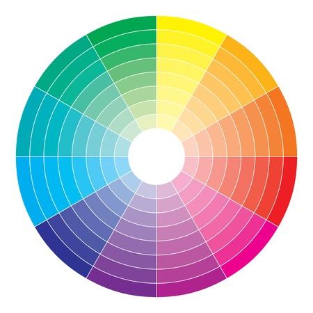 Kleurenspectrum abstract wiel, kleurrijke diagram achtergrond Vector Illustratie