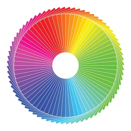 Color spectrum abstract wheel, colorful diagram background Stock Vector - 20239805