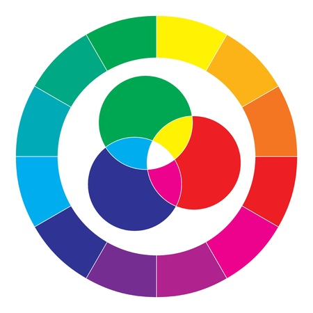color spectrum: Color spectrum abstract wheel, colorful diagram background
