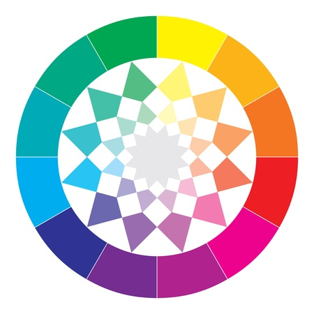 color swatches: Color spectrum abstract wheel, colorful diagram background