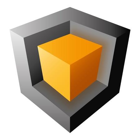 Colorful vector cube design, isolatedon white background Stock Illustratie