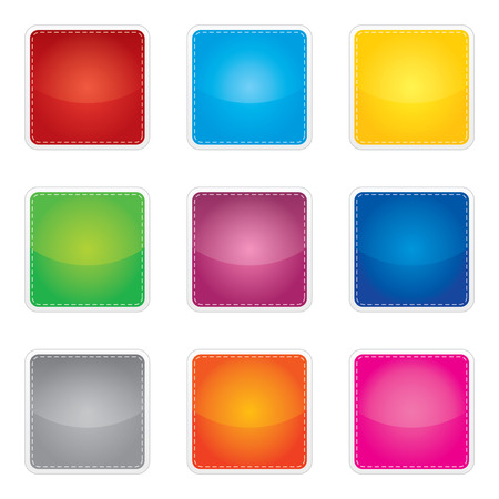 e books: Price, promotion or bestseller vector blank stickers with different colors