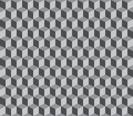 Abstract vector cube and squares repeatable background Illustration