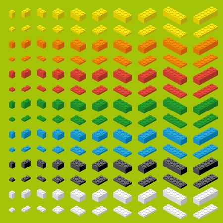 Children simple colorful toy brick bricks