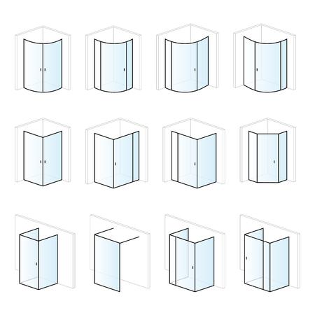 Cabines de douche, installation de salle de bain et solutions de montage, types de pictogrammes