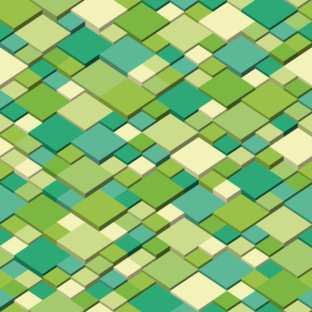 Isometric graphic pattern. Abstract seamless and repeatable vector. Spring colors