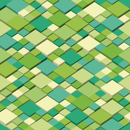 Spring  Seamless pattern of geometric shapes - isometric style, colors of spring Ilustrace