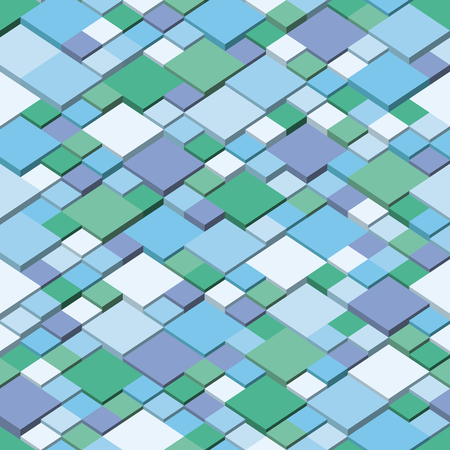Winter  Square mosaic vector background corner design. Seamless pattern colors of winter
