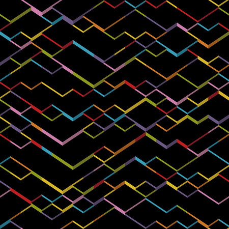 Vector geometric cubes background. Dark isometric pattern Illustration