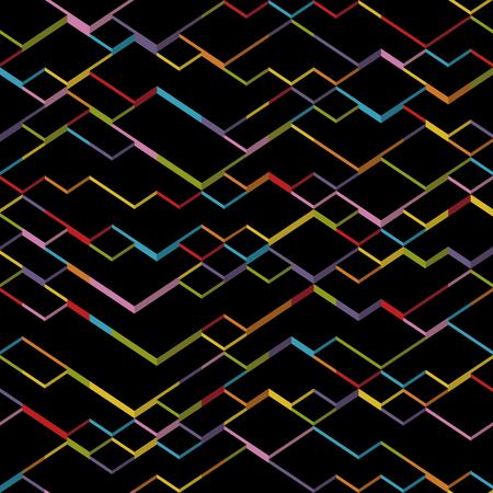 Vector geometric cubes background. Dark isometric pattern Stock Illustratie