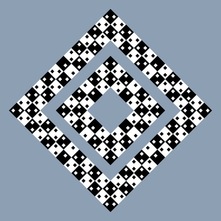 Visual deception - modern optical illusion. Funny and impossible shapes riddle. Ilustração