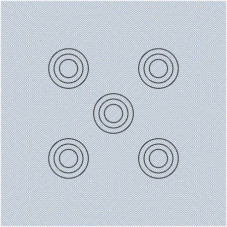 Optical illusion effect, op art vector abstract background.