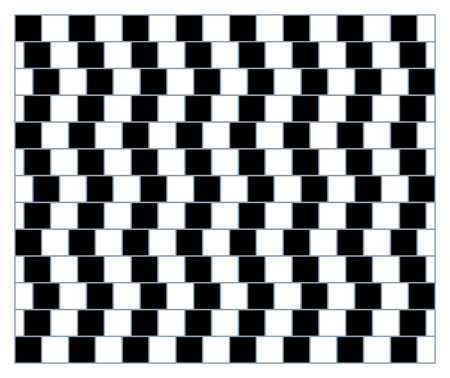 Visual deception - modern optical illusion. Funny and impossible shapes riddle. Print pattern or wallpaper. Ilustração
