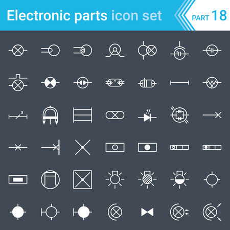 electric and electronic icons electric diagram symbols lighting rh 123rf com Blank Vector Diagrams Science Vector Diagram