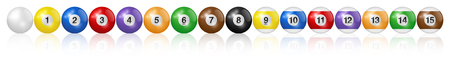ビリヤードボール。ベクトルの高品質のイラスト。 ベクターイラストレーション