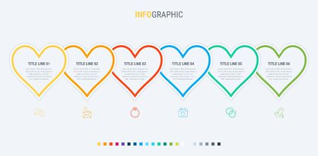 Vector infographics - valentines day, mothers day, wedding, love and romantic events.  イラスト・ベクター素材