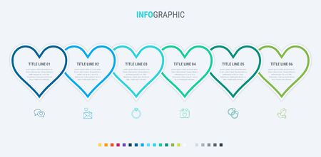 Vector infographics - valentines day, mothers day, wedding, love and romantic events. Cold palette. 写真素材 - 132637914