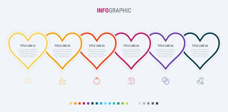 Vector infographics - valentines day, mothers day, wedding, love and romantic events. Warm palette. 写真素材 - 138080261