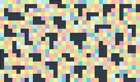 Beautiful tiles background. Colorful pixel background for card or poster - vector illustration.