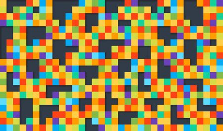 Abstract colorful geometric pixel background. Pattern design for banner, poster, flyer, card, postcard, cover, brochure.