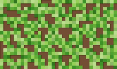 Vector background. Vector Illustration of abstract squares and pixels. Colored squares with shadows on dark background