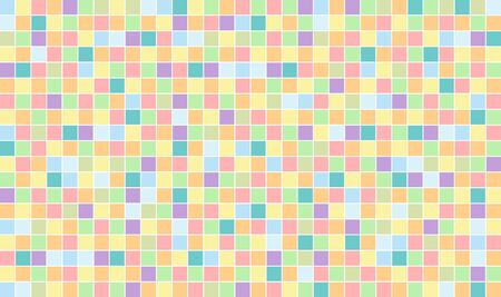 Abstract square pixel mosaic background. Tiles colorful template.  イラスト・ベクター素材
