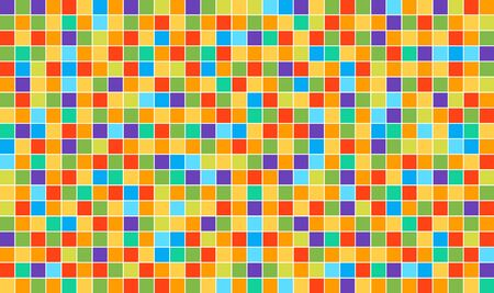 Multicolor abstract disco background. Vector square pixel mosaic. High quality vector template.