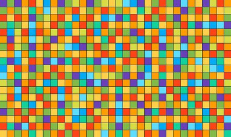 Abstract square pixel mosaic background. Colorful pixel background.