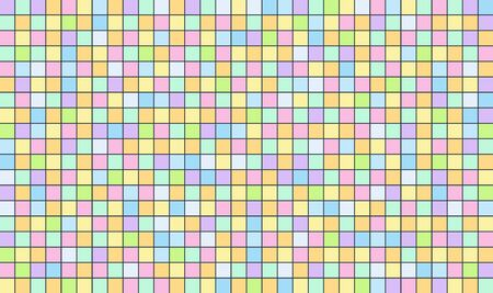 Color set square abstract background. Abstract pixel background for design. Colorful tiles template.  イラスト・ベクター素材