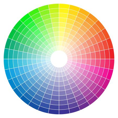Color spectrum abstract wheel, colorful diagram background. Color wheel isolated on white background.