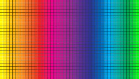 Abstract spectrum color background vector template. Illustration of abstract texture with squares.