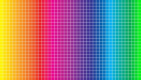 Vector background. Vector Illustration of color spectrum squares and pixels. Colored squares with shadows on light background
