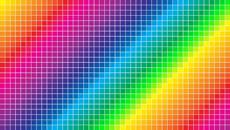 Pixel style color spectrum background wallpaper. Colorful squares abstract background.