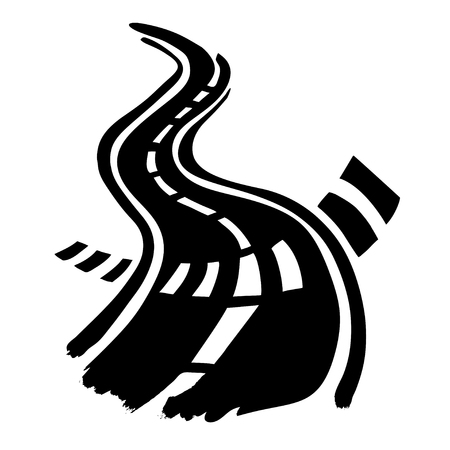 Road and Crosswalk stripes hand drawn by ink vector Stock Vector - 79282172