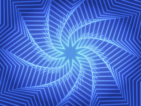 Abstract blue whirl background with star. Art vector illustration
