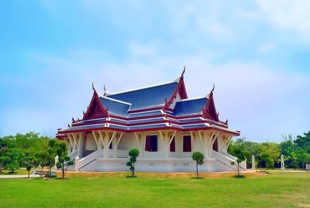 Thai Temple in Lumbini, Nepal - birthplace of Buddha Siddhartha Gautama.